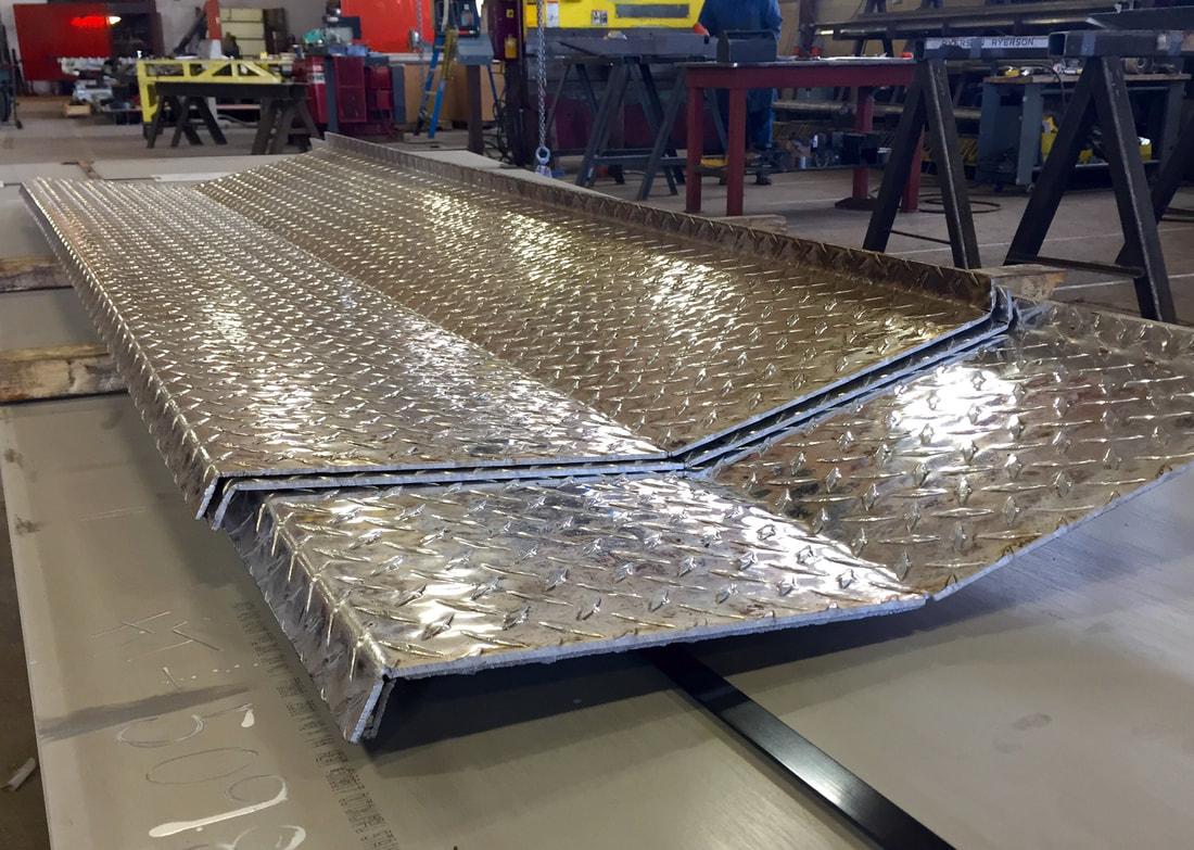 Steel Stair Treads Diamond Plate Bending Omni Steel Supply